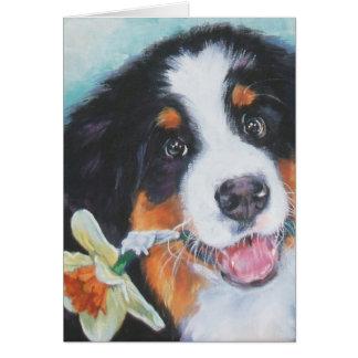 Bernese Mountain Dog Easter Card