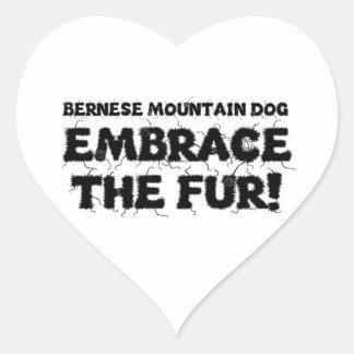 Bernese Mountain Dog Embrace The Fur Heart Sticker