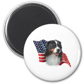 Bernese Mountain Dog Flag Magnet