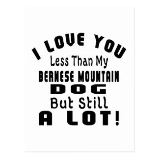 BERNESE MOUNTAIN DOG FUNNY DESIGNS POSTCARD