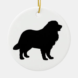 Bernese Mountain Dog Gear Double-Sided Ceramic Round Christmas Ornament