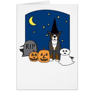 Bernese Mountain Dog Halloween Greeting Card