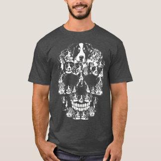 Bernese Mountain Dog  Halloween Skull Costumes T-Shirt