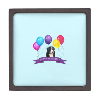 Bernese Mountain Dog Happy Birthday Gift Box