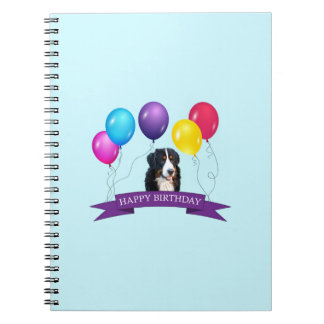 Bernese Mountain Dog Happy Birthday Spiral Notebook