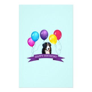 Bernese Mountain Dog Happy Birthday Stationery