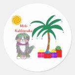 Bernese Mountain Dog Hawaiian Christmas Classic Round Sticker