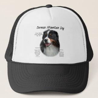 Bernese Mountain Dog History Design Trucker Hat