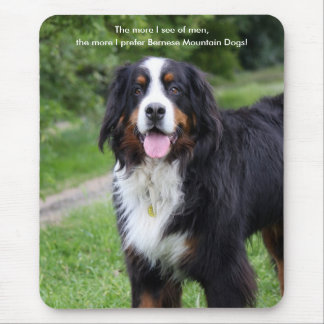 Bernese mountain dog humour, funny mousepad