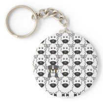 Bernese Mountain Dog in the Sheep Keychain