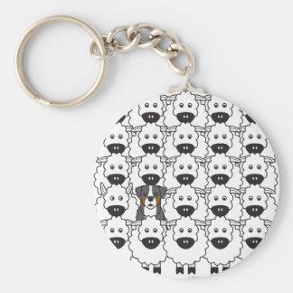 Bernese Mountain Dog in the Sheep Keychain
