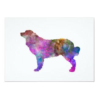 Bernese mountain dog in watercolor 2 card