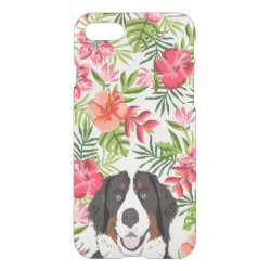 Uncommon iPhone 7 Clearly™ Deflector Case with Bernese Mountain Dog Phone Cases design