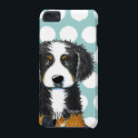"Bernese Mountain Dog iPod Touch 5G Cover<br><div class=""desc"">Bernese Mountain Dog dog art by Contemporary PUP Artist,  KiniArt. &#169; Kim Niles,  KiniArt™ - All Rights Reserved.</div>"