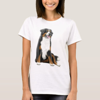 Bernese Mountain Dog Ladies Babydoll Shirt