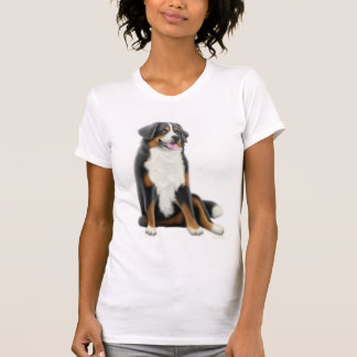 Bernese Mountain Dog Ladies Scoop Neck T-Shirt