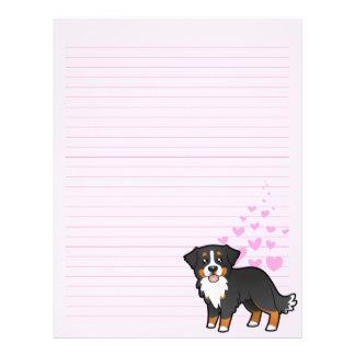 Bernese Mountain Dog Love Letterhead