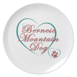 Bernese Mountain Dog Love Plates