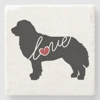 Bernese Mountain Dog Love Stone Coaster