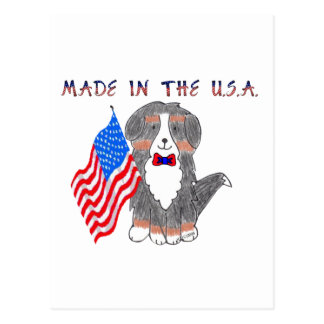 Bernese Mountain Dog Made In The USA Postcard