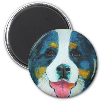 Bernese Mountain Dog 2 Inch Round Magnet