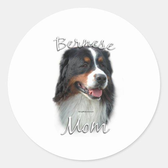 Bernese Mountain Dog Mom 2 Classic Round Sticker