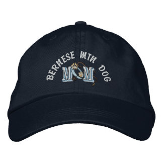 Bernese Mountain Dog Mom Embroidered Baseball Hat