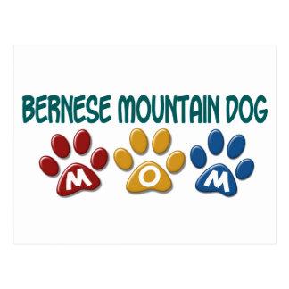 BERNESE MOUNTAIN DOG MOM Paw Print Postcard