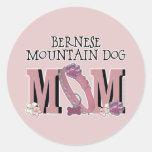 Bernese Mountain Dog MOM Round Sticker
