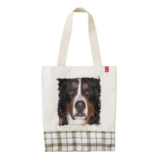 Bernese Mountain Dog, Mountain Dog, Big dog Zazzle HEART Tote Bag