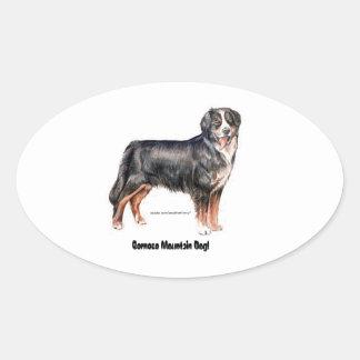 Bernese Mountain Dog Oval Sticker