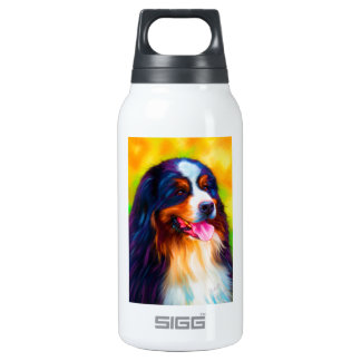 Bernese Mountain Dog Painting - Heidi 10 Oz Insulated SIGG Thermos Water Bottle