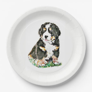 Bernese Mountain Dog Paper Plate