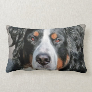 Bernese Mountain Dog Photo Image Lumbar Pillow