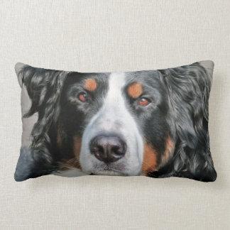 Bernese Mountain Dog Photo Image Lumbar Pillow
