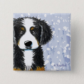 Bernese Mountain Dog Pinback Button