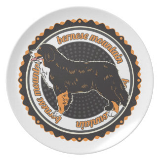 Bernese Mountain Dog Party Plate