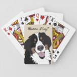 """Bernese Mountain Dog Playing Cards<br><div class=""""desc"""">Based off a friends friendly and always playful Bernese Mountain Dog Angus.</div>"""