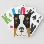 Bernese Mountain Dog Playing Cards Modern