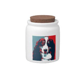 Bernese Mountain Dog Political Parody Poster Candy Dish