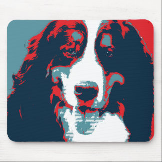 Bernese Mountain Dog Political Parody Poster Mouse Pad