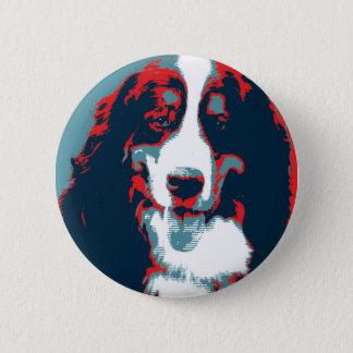 Bernese Mountain Dog Political Parody Poster Pinback Button