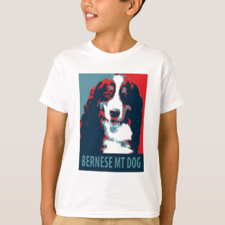 Bernese Mountain Dog Political Parody Poster T-Shirt