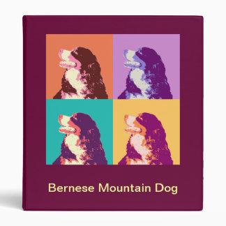 Bernese Mountain Dog Pop Art Binder