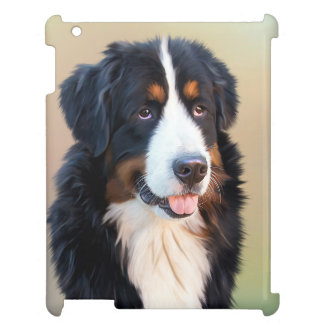 Bernese Mountain dog portrait glossy ipad case