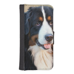 iPhone 5/5s Wallet Case with Bernese Mountain Dog Phone Cases design