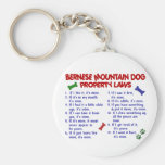 BERNESE MOUNTAIN DOG Property Laws 2 Basic Round Button Keychain