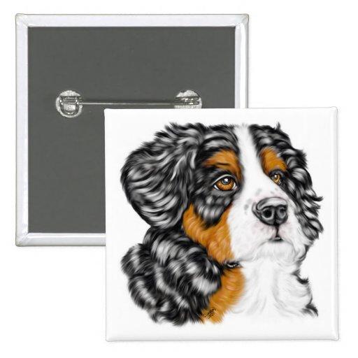 Bernese Mountain Dog Pup Buttons