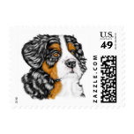 Bernese Mountain Dog Pup Postage Stamps