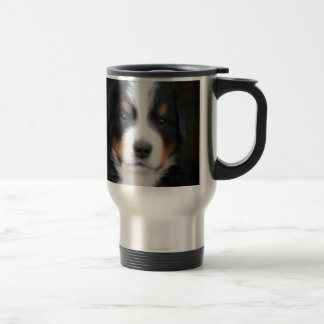 Bernese mountain dog puppies travel mug